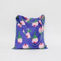 sogon sogon Flower Patterns Casual Style Street Style Logo Totes