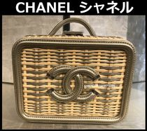 CHANEL ICON Blended Fabrics 2WAY Bi-color Chain Elegant Style Satchels