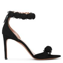 Azzedine Alaia Open Toe Suede Blended Fabrics Studded Plain Pin Heels