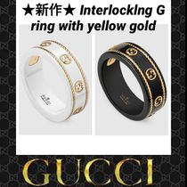 GUCCI GG Marmont Unisex 18K Gold Rings