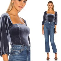 Lovers&Friends Casual Style Cropped Plain Medium Party Style Elegant Style
