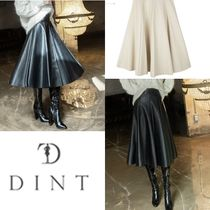 DINT Casual Style Plain Long Elegant Style Maxi Skirts