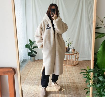 Casual Style Long Oversized Coats