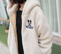 Disney Casual Style Long Oversized Shearling Coats