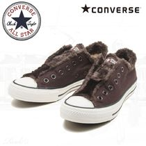 CONVERSE ALL STAR Round Toe Rubber Sole Casual Style Unisex Plain Shearling