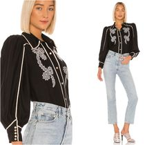 Cameo the Label Casual Style Long Sleeves Medium Puff Sleeves