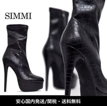 SIMMI Platform Casual Style Street Style Ankle & Booties Boots