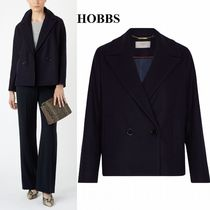 Hobbs London Short Wool Plain Office Style Peacoats