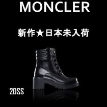 MONCLER Rubber Sole Casual Style Plain Leather Ankle & Booties Boots