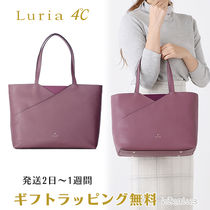 4℃ A4 Plain Leather With Jewels Office Style Elegant Style Bold