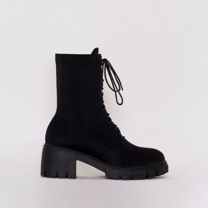 Platform Lace-up Casual Style Street Style