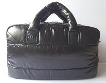 CHANEL COCO COCOON Casual Style Unisex Nylon 2WAY Totes