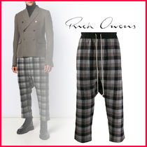 RICK OWENS Other Check Patterns Sarouel Pants