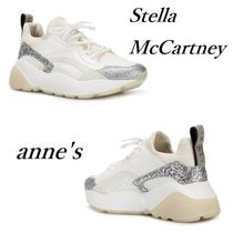 Stella McCartney Platform Round Toe Rubber Sole Lace-up Casual Style