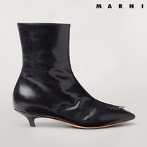 MARNI Casual Style Plain Elegant Style Ankle & Booties Boots