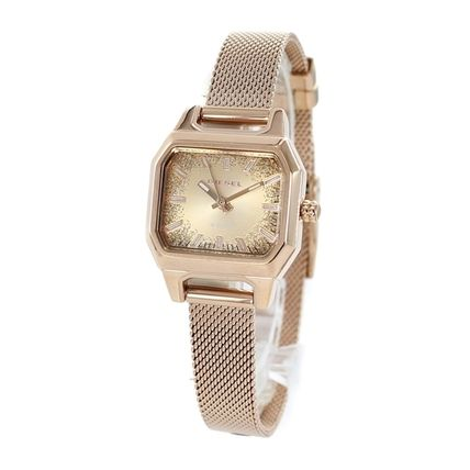 DIESEL Casual Style Round Quartz Watches Stainless Bridal