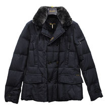 MOORER Fur Street Style Plain Down Jackets