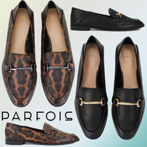 PARFOIS Faux Fur Plain Other Animal Patterns Loafer & Moccasin Shoes