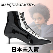 MARQUES ALMEIDA Lace-up Plain Leather Lace-up Boots