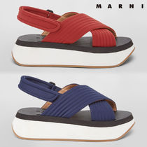 MARNI Open Toe Rubber Sole Casual Style Plain