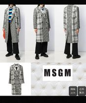 MSGM Gingham Glen Patterns Casual Style Wool Long Elegant Style