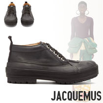 JACQUEMUS Plain Leather Low-Top Sneakers