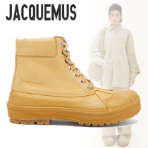 JACQUEMUS Casual Style Plain Leather Boots Boots