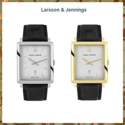 Casual Style Unisex Leather Square Party Style