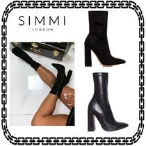 SIMMI Casual Style Suede Street Style Other Animal Patterns
