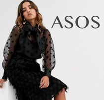 ASOS Dots Blended Fabrics Street Style Long Sleeves Medium