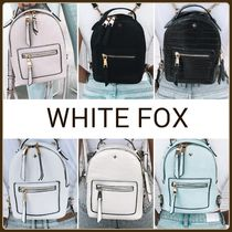 WHITE FOX Casual Style Crocodile 2WAY Plain Backpacks