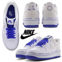 Nike AIR FORCE 1 Other Plaid Patterns Casual Style Unisex Street Style Logo