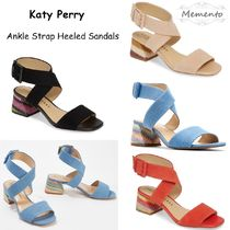 Katy Perry Casual Style Plain Chunky Heels Sandals