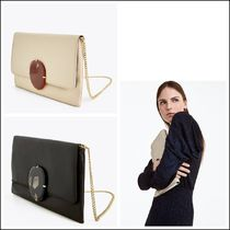 Uterque Casual Style Lambskin 2WAY Plain Leather Party Style