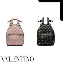VALENTINO Casual Style Studded Backpacks