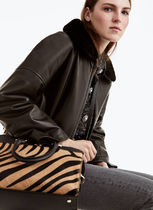 Uterque Casual Style Spawn Skin 2WAY Other Animal Patterns Leather