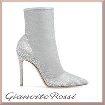 Gianvito Rossi Suede Blended Fabrics Plain Pin Heels Party Style
