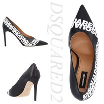 D SQUARED2 Casual Style Plain Leather Pin Heels