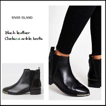 River Island Casual Style Plain Leather Ankle & Booties Boots