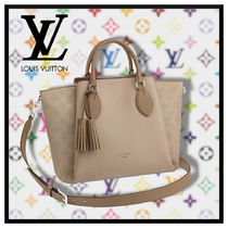 Louis Vuitton MAHINA Monogram Casual Style Blended Fabrics Tassel A4 3WAY Leather