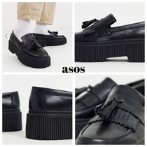 ASOS Loafers Faux Fur Street Style Plain Loafers & Slip-ons