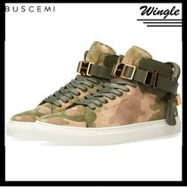 BUSCEMI Camouflage Leather Sneakers