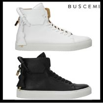 BUSCEMI Suede Plain Leather Sneakers