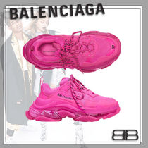BALENCIAGA Casual Style Street Style Logo Low-Top Sneakers