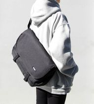 BYMOSS Casual Style Unisex Street Style A4 2WAY Plain Shoulder Bags