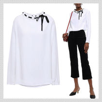 sandro Casual Style Long Sleeves Plain Office Style