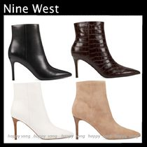 Nine West Casual Style Suede Plain Leather Pin Heels
