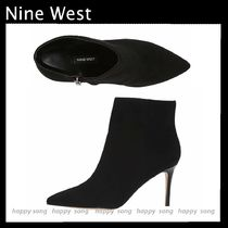 Nine West Suede Plain Pin Heels Ankle & Booties Boots