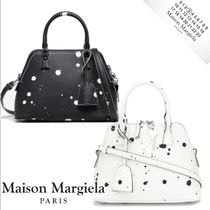 Maison Margiela Casual Style Calfskin 2WAY Leather Totes