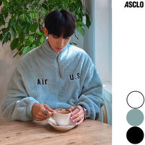 ASCLO Street Style Collaboration Long Sleeves Plain Tops